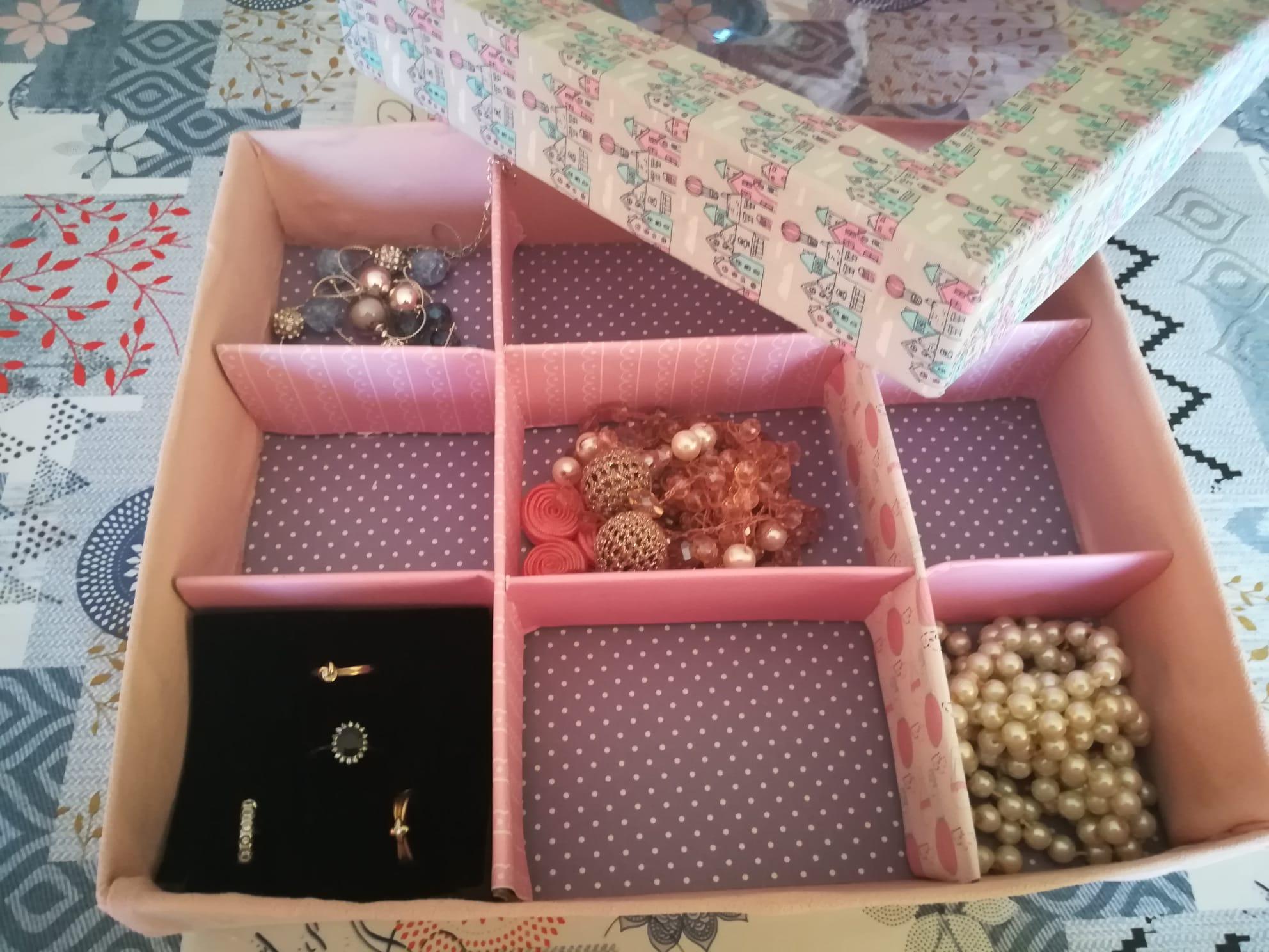 Scatola porta bijoux homemade
