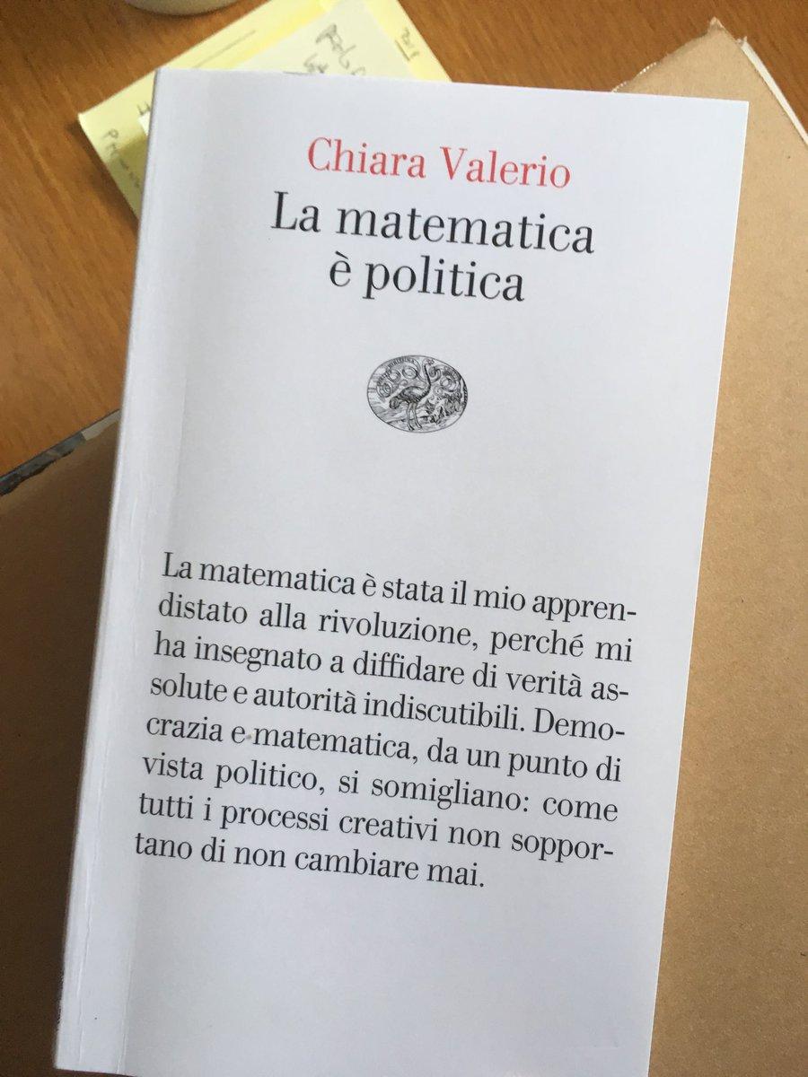 """Chiara Valerio e il saggio """"La matematica è politica"""""""